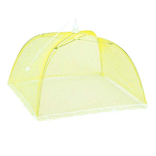 Weite Large Pop-Up Mesh Food Cover Tent Umbrella, Reusable Outdoor Picnic Food Covers, Collapsible Food Cover Net Keep Out Flies, Bugs, Mosquitoes (Multicolor) by Weite (Image #2)