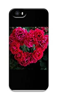Diy For Iphone 5/5s Case Cover Beautiful Red Rose 3D Custom Diy For Iphone 5/5s Case Cover