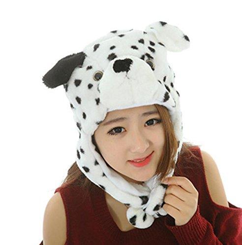 Dalino Creative Cute Cartoon Performance Headwear Plush Animal Headgear (Dalmatians) by Dalino