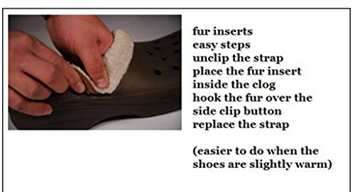 bdd5e37951201 Replacement Insoles Liners for Clogs Crocs Mules Style Shoes Black Fur for  a Furry Lining  Amazon.co.uk  Shoes   Bags