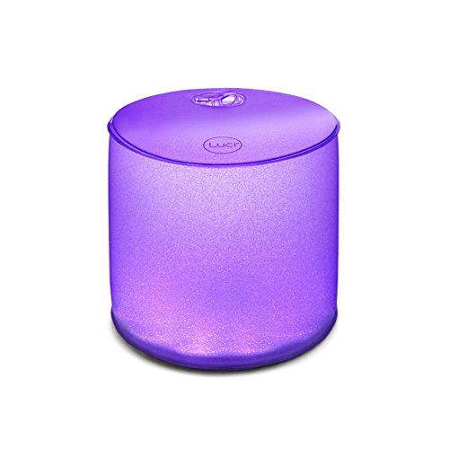 MPOWERD  Luci Color - Multi-Color Inflatable Solar Light, Sparkle Finish - Mission Bath Light