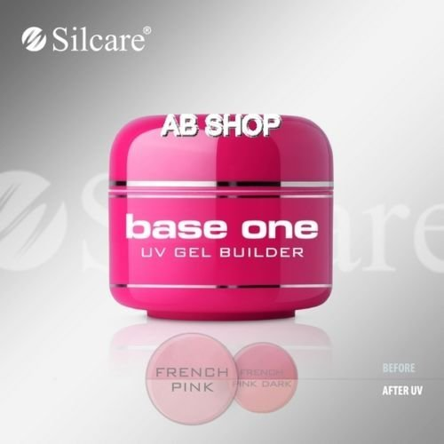 Base One French Pink 30g UV Gel Nails Builder File Off Gel Silcare