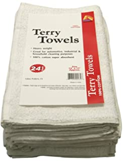Paint Essentials 14-Inch x 17-Inch Terry Towels, White 24-Pack