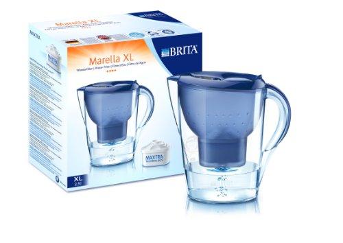Brita Wasserfilter Marella XL 3,5L + 3 Maxtra Kartuschen blau
