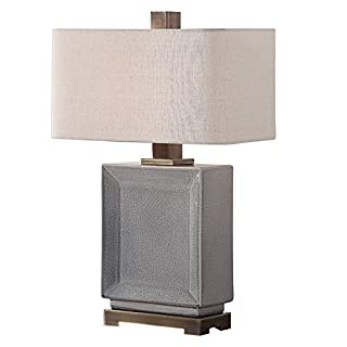 Uttermost Abbot Table Lamp in Crackled Gray