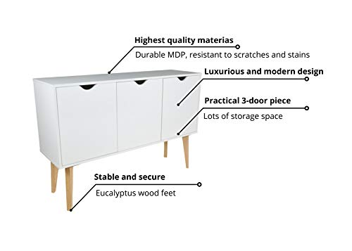 Kitchen Falkk Buffet Storage Cabinet – Luxurious Buffet Piece for The Living Room, Dining Room and Home Cinema – Organizing… modern buffet sideboards