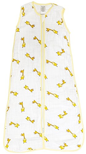 Jasper Baby Cotton Muslin Wearable Blanket (Xlarge, Gigi the Giraffe)