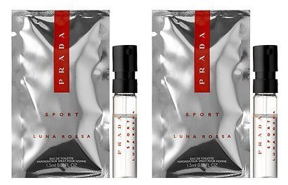 Prada Luna Rossa Sport Sample-Vials For Men, 0.05 oz EDT *Lot Of 2* *Free Name Brand Sample-Vials With Every Order* ()