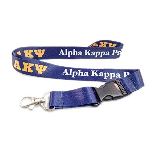 Scotty Alpha Kappa Psi Fraternity Letter Lanyard Greek Keychain Key Attachment AKPsi (Alpha Merchandise)