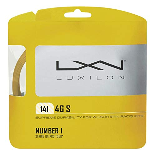 Wilson LUXILON 4G S 141 Tennis String, Gold, 15-Gauge