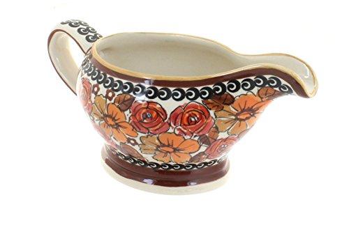 Polish Pottery Autumn Rose Gravy (Rose Gravy Boat)