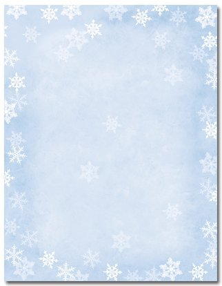 Winter Flakes Holiday Letterhead, Office Central