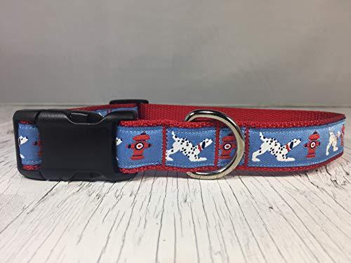 Dalmatian and Fire Hydrant Dog Collar
