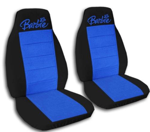2Negro y medianas azul Barbie fundas para asientos para un 2011para 2012Jeep Grand Cherokee. Airbag lateral Friendly