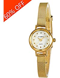 Daimon Women's Wrist Watches with Gold Case and Gold Band