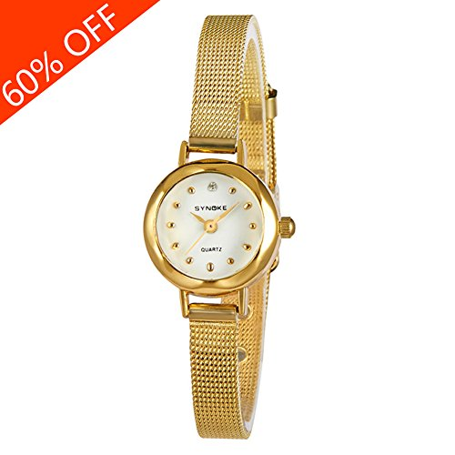 Daimon+Women%27s+Wrist+Watches+with+Gold+Case+and+Gold+Band