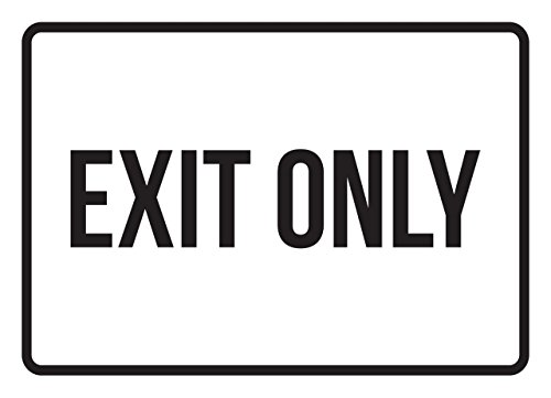Exit Only No Parking Business Safety Traffic Signs Black - 7.5x10.5 - Metal by iCandy Products Inc
