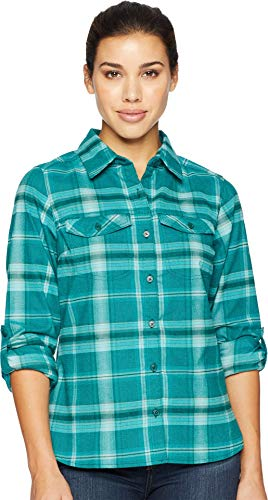 Columbia Silver Ridge Long Sleeve Flannel, Medium, Dark Ivy Ombre Window Plaid