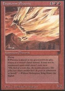 - Magic: the Gathering - Firestorm Phoenix - Legends