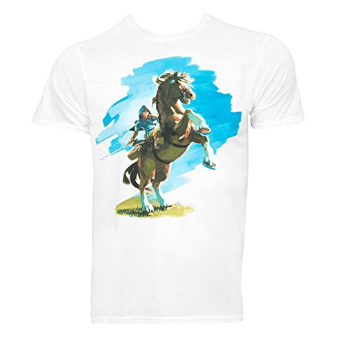 (Bioworld Zelda Breath of The Wild Mens White T-Shirt (X-Large))
