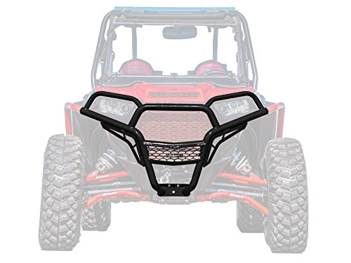SuperATV Heavy Duty Front Brush Guard Bumper for Polaris RZR 900/4 900 / S 900 (2015+) - Wrinkle ()