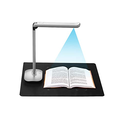 Aibecy F50 Foldable High Speed USB Book Image Document Camera Scanner 15 Mega-Pixels A3 & A4 Scanning Size with LED Light AI Technology USB Foot Pedal for Classroom Office Library Bank for Windows