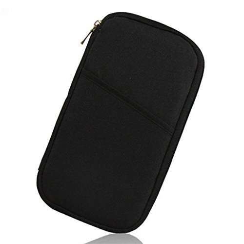 Baost Travel Passport Wallet Credit ID Card Cash Holder Organizer Purse Bag (Black)
