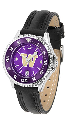 Washington Huskies Competitor AnoChrome Women's Watch - Color Bezel