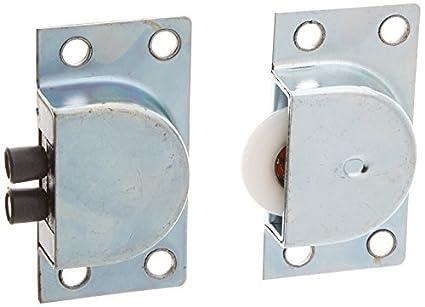 4 pares 0,9 Diámetro polea simple para puertas corredizas Muebles conjunto de rodillos