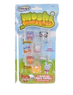 Moshi Monsters Moshlings Pencil Toppers- Chop Chop Pooky Prof Purplex Shi Shi Honey from Mega Brands, Inc