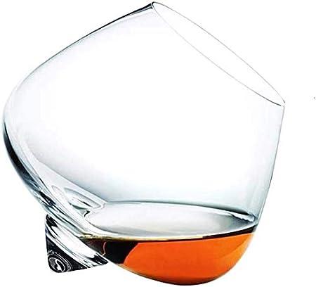 Botella de Whisky Con Vaso 2 Unid Whisky Rocker Gafas Regalo Whisky Tumblers Balanceo Whisky Gafas Cristal Corte Transparente Rodamiento Whisky Gafas Barras De Regalo Para Hombres Mujeres Botella de W