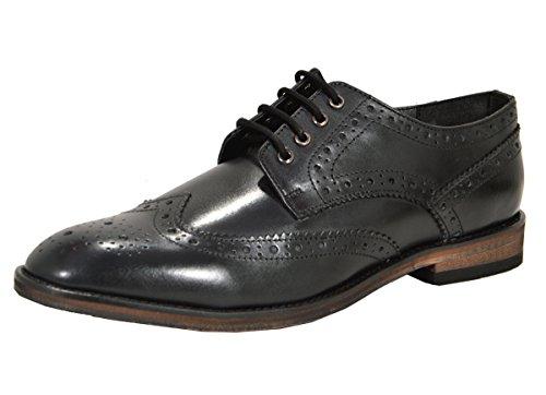 Cordones Zapatos Piel De Negro Hombre Para Aspele O70fO