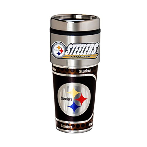 Pittsburgh Steelers 16oz. Stainless Steel Travel (Pittsburgh Steelers Travel Mug)