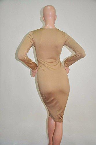 Robes Mode Marron Paquet Robe Femme Mince Beautifulapparel Chaud Bandage Bodycon Hanches Crayon SVUpzMqG