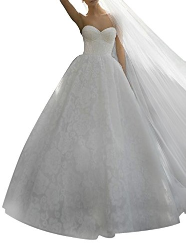 Lace Bridal White Ivory Women Ball Gowns Wedding Dresses Prom s Dreamdress YXxvTS