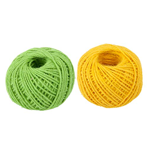 - Fenteer 50m Roll Twisted Jute Twine, Rope, 100% Natural Cord, Baling Twine for Arts,Crafts,Gift,Industrial, Wrapping and Packing, 2 mm Durable String (2 Pack)