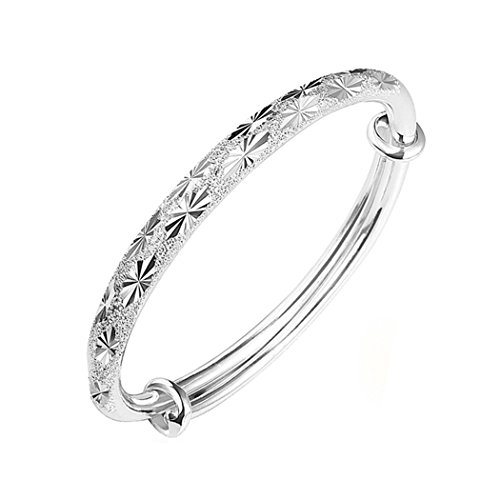 (Dog Brother Bracelet for Women 925 Jewelry Classic Solid Silver Twist Bracelet Cuff Bangle)