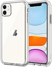 JETech Skal Kompatibelt med iPhone 11 (2019), 6,1 Tums, Stötsäker, Genomskinlig Stötfångarskydd, Ripskyddad Baksida (HD Klar)