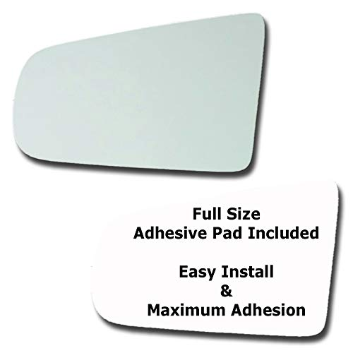 96 Cadillac Deville Drivers - Mirror Glass + Full Size Adhesive Pad for 1994-1999 Cadillac DeVille Driver Side Replacement