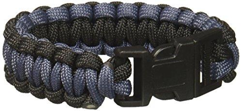 SecureLine NPCB550BKGL-6W 550 Nylon Paracord Survival Bracelet, Large, Black/Grey