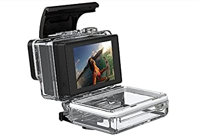 MazeTechno Case LCD Bacpac External Monitor Display Screen Viewer button control for GoPro HERO 4, 3+, 3 with Waterproof Backdoor cover for HERO 4 and 3+