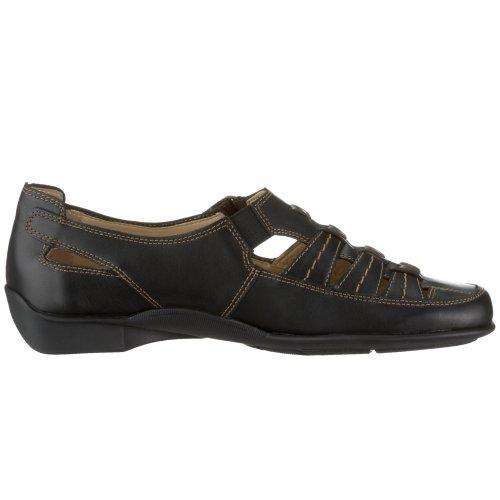 cuero cordones de de Remonte Dorndorf Negro mujer Zapatos para qzpUBZg
