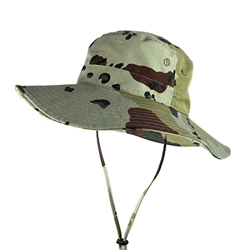 HBOS Camouflage Hat Summer Outdoor Men and Women Sun Hat Large Brimmed Hat Advantage Classic Camo