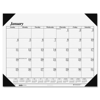 House of Doolittle Economy Desk Pad Workstation/Home Office Size, 12 Months, January 2012 to December 2012, 18.5 x 13 Inch, Recycled (HOD0124)