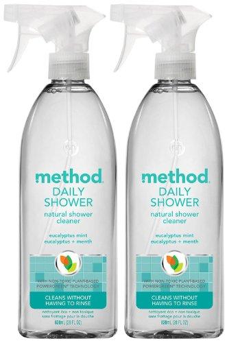 Method Shower Daily Cleaner (Method Daily Shower Spray - Eucalyptus Mint - 28 oz - 2 pk)
