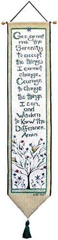 Manual Woodworkers Weavers Tapestry Bell Pull, Serenity Prayer