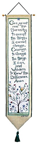 Manual Woodworkers & Weavers Tapestry Bell Pull, Serenity Prayer (Prayer Tapestry)