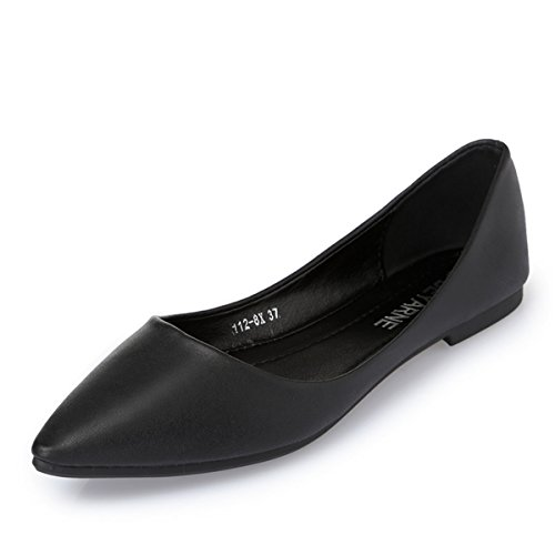 Women Fashion Classic Casual Pointed Toe Ballet Comfort Soft Slip On Flats Shoes S-3 k6sKfqSH3
