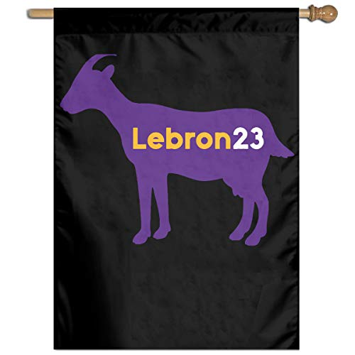 Lebron Goat 23 100% Polyester House Flag Decorative Garden Flag Yard Banner Garden Flags 27x37
