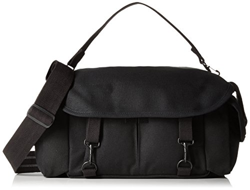 Domke F-2 original shoulder bag 700-02B (Black) for Canon, Nikon, Sony, Leica, Fujifilm & Olympus DSLR or Mirrorless cameras with space for multiple lenses up to 300mm and accessories (Domke Canvas Camera Bag)